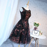 2017 A-line Scoop Short Prom Drsess Homecoming Dresses SKY324