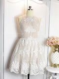 A-line Scoop Tulle Short Prom Dress Juniors Homecoming Dresses SKY326
