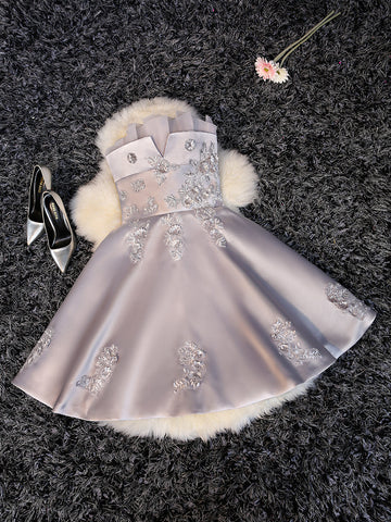 2017 A-line Strapless Short Prom Drsess Homecoming Dresses SKY328