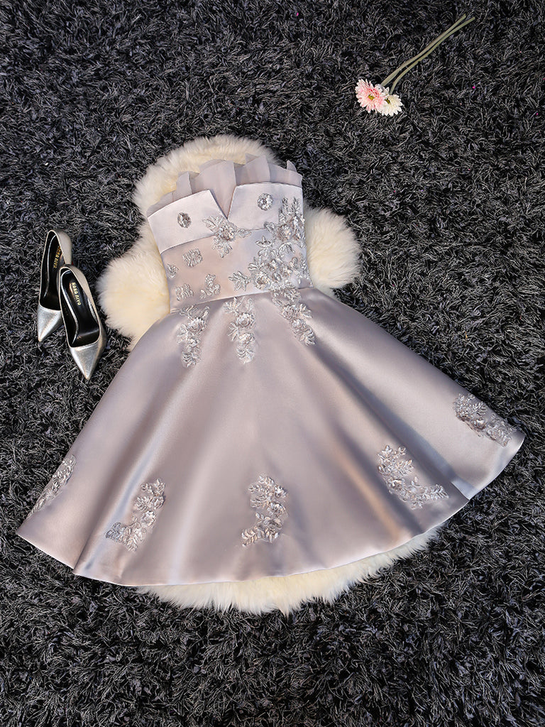 A-line Homecoming Dress Off-the-shoulder Tulle Juniors Homecoming Dresses SKY328