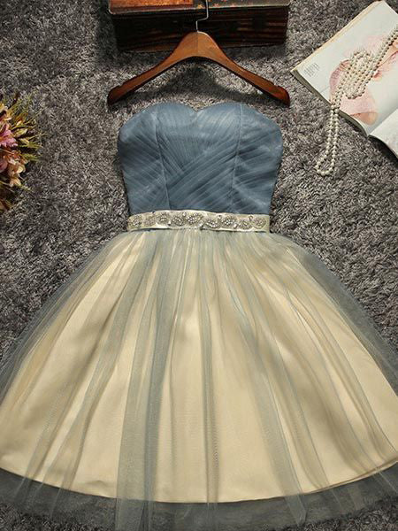 Homecoming Dress 2017 Blue Short/Mini Juniors Homecoming Dresses SKY352