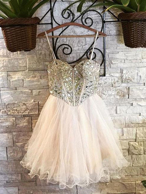 Homecoming Dress 2017 Sweetheart Tulle Juniors Homecoming Dresses SKY358