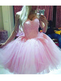 A-line Homecoming Dress Sweetheart Tulle Short Party Dresses SKY374