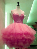 A-line Homecoming Dress Sweetheart Tulle Short Party Dresses SKY375