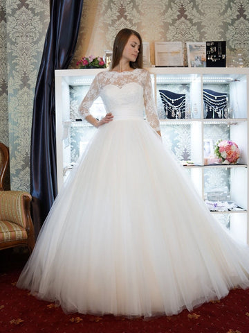 Lace Wedding Dress,Romantic Wedding Dress,White Wedding Dress,Wedding Gowns SKY395