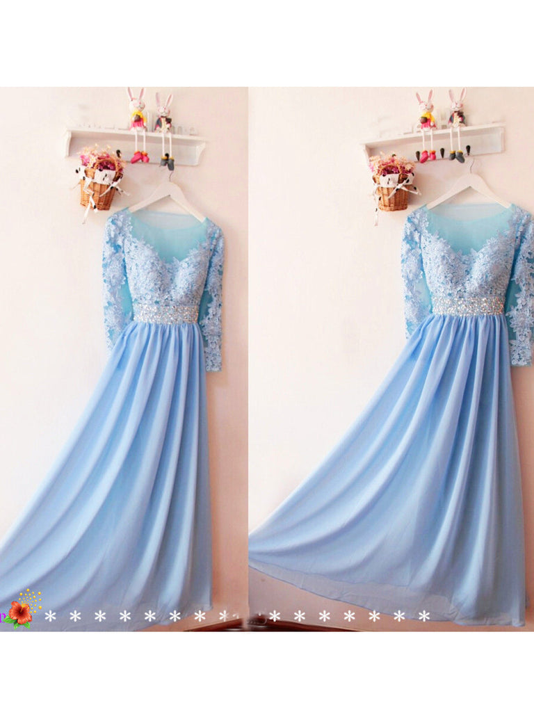2017 A-line V-neck Floor-length Bridesmaid Dresses Prom Gowns Dress SKY408