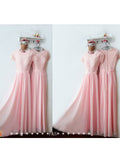 2019 A-line Scoop Floor-length Bridesmaid Dresses Prom Gowns Dress SKY417