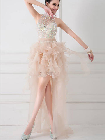 2017 A-line High Neck Short Prom Drsess Prom Dress SKY420