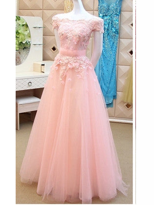 2017 A-line Off-the-shoulder Tulle Prom Dress Bridesmaid Dress SKY424