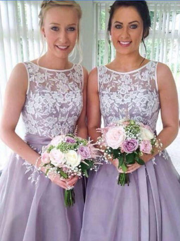 A-line Bateau Tulle Prom Dress Bridesmaid Dress SKY433