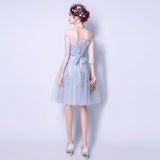 A-line Off-the-shoulder Tulle Short Prom Drsess Homecoming Dress SKY440
