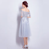 2017 A-line Off-the-shoulder Tulle Short Prom Drsess Homecoming Dress SKY441