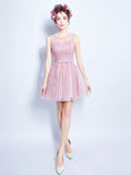 A-line Scoop Short Prom Drsess Juniors Homecoming Dresses SKY453