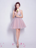 2017 A-line V-neck Short/Mini Prom Drsess Homecoming Dress SKY459
