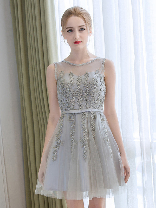 A-line Scoop Short Prom Drsess Juniors Homecoming Dresses SKY468
