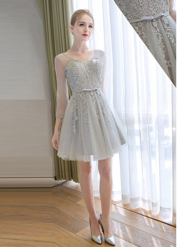 A-line Homecoming Dress Short Party Dress Cocktail Dresses SKY470