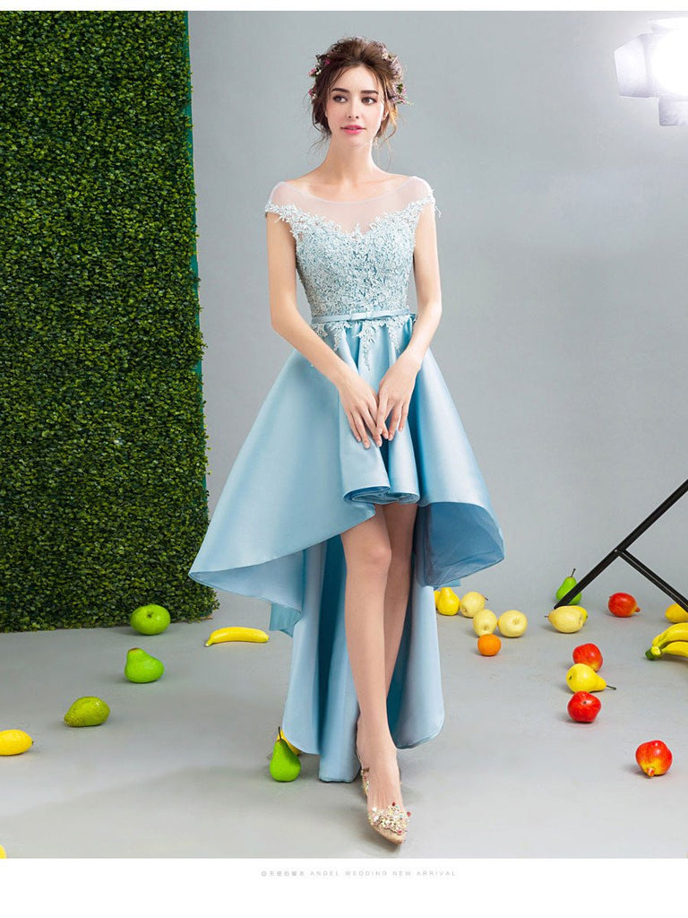A-line Asymmetrical Homecoming Dress Short Party Dress Cocktail Dresses SKY474