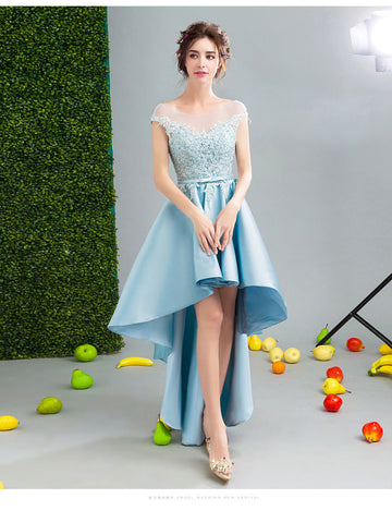 2017 A-line Asymmetrical Homecoming Dress Short Party Dress Cocktail Dresses SKY474