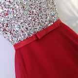 A-line Scoop Asymmetrical Prom Drsess Juniors Homecoming Dresses SKY477