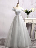A-line Off-the-shoulder Tulle Prom Drsess/Evening Dress SKY504