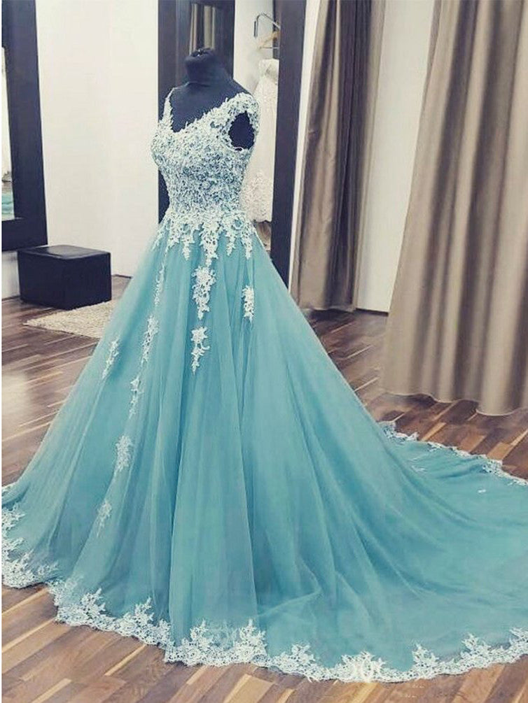 2017 A-line V-neck Prom Dress Party Dress Evening Dresses SKY505