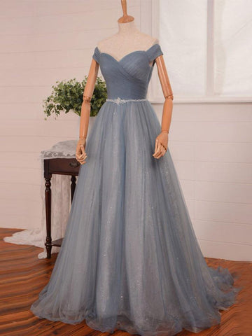A-line Off-the-shoulder Tulle Prom Drsess/Evening Dress SKY506