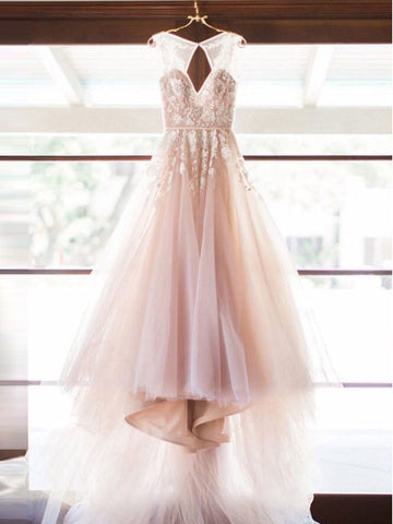 2017 A-line V-neck Tulle Floor-length Prom Drsess/Evening Dress SKY508