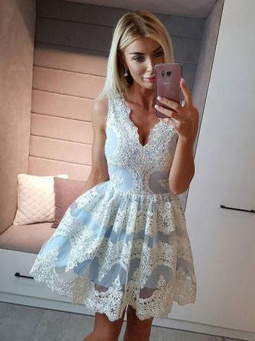 2017 A-line Homecoming Dress Short Party Dress Cocktail Dresses SKY512