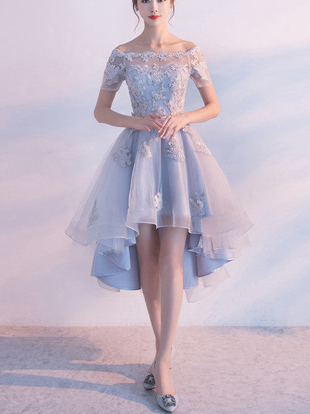 2017 A-line Short Prom Drsess Off-the-shoulder Homecoming Dresses SKY539