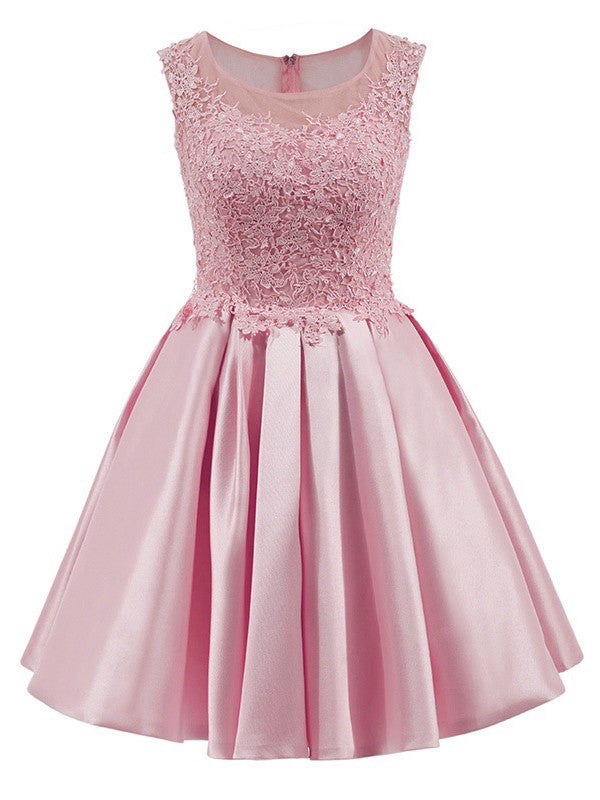 A-line Scoop Short Prom Drsess Juniors Homecoming Dresses SKY564