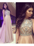2017 A-line Scoop Floor-length Prom Drsess/Evening Dress SKY568