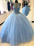 A-line Scoop Floor-length Prom Drsess 2017 Evening Gowns SKY577