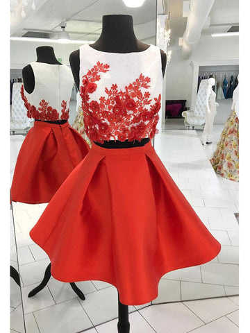 A-line Scoop Short Prom Drsess Juniors Homecoming Dresses SKY585
