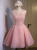 A-line Scoop Short Prom Drsess Juniors Homecoming Dresses SKY595