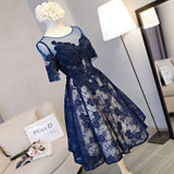 2017 A-line Scoop Short Prom Drsess Homecoming Dresses SKY600