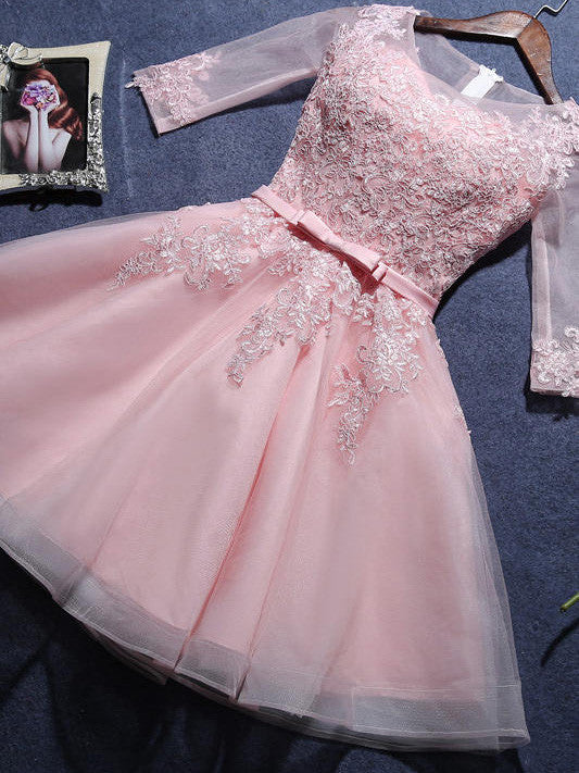 A-line Scoop Short Prom Drsess Juniors Homecoming Dresses SKY606