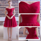 A-line Off-the-shoulder Short Prom Drsess Homecoming Dresses SKY646