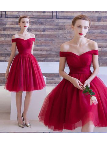 2017 A-line Off-the-shoulder Short Prom Drsess Homecoming Dresses SKY646