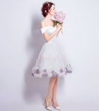 A-line Off-the-shoulder Short Prom Drsess Homecoming Dresses SKY654