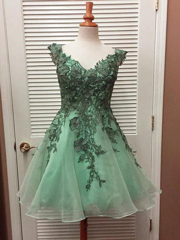 2017 Charming Homecoming Dresses A-line Short Prom Dress SKY689