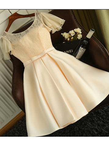2017 Charming Homecoming Dresses A-line Short Prom Dress SKY704