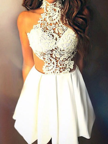 2017 Charming Homecoming Dresses A-line Short Prom Dress SKY712