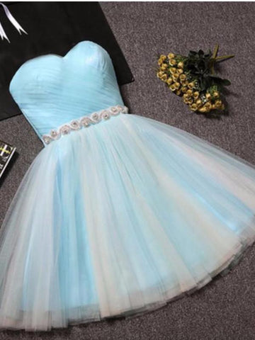 2017 A-line Scoop High Low Prom Drsess Charming Homecoming Dresses SKY725