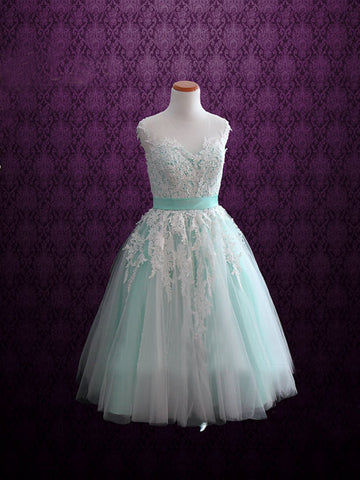 A-line V-neck Tulle Homecoming Dress Short Prom Drsess SKY735