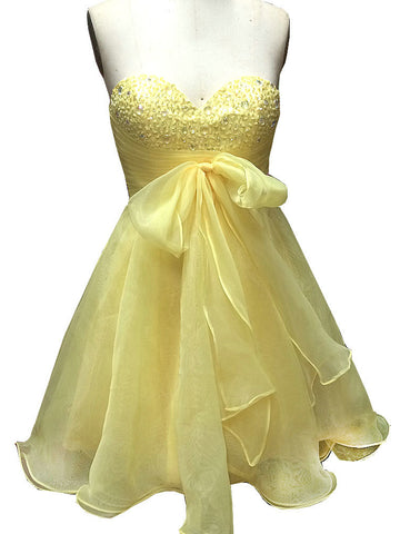 Charming A-line Sweetheart Homecoming Dress Tulle Short Prom Drsess SKY740
