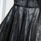 Black Charming Homecoming Dress Scoop Short Prom Drsess SKY758