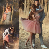 Charming Homecoming Dress Sweetheart Short Pink Prom Drsess SKY760