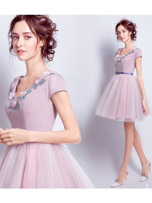 2017 A-line Prom Drsess Short Charming Homecoming Dresses SKY774