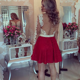 Charming A-line Scoop Short Prom Drsess Homecoming Dress SKY782