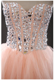 A-line Sweetheart Tulle Homecoming Dress Short Prom Drsess SKY790